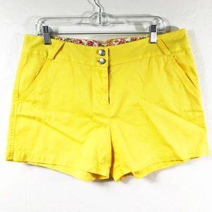 Cremieux Yellow Cotton Shorts